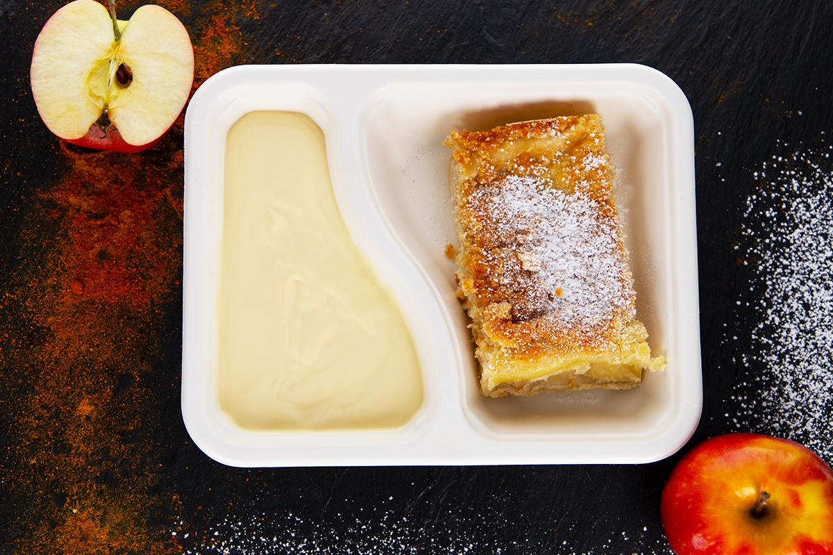 Apfelstrudel mit Vanillesoße