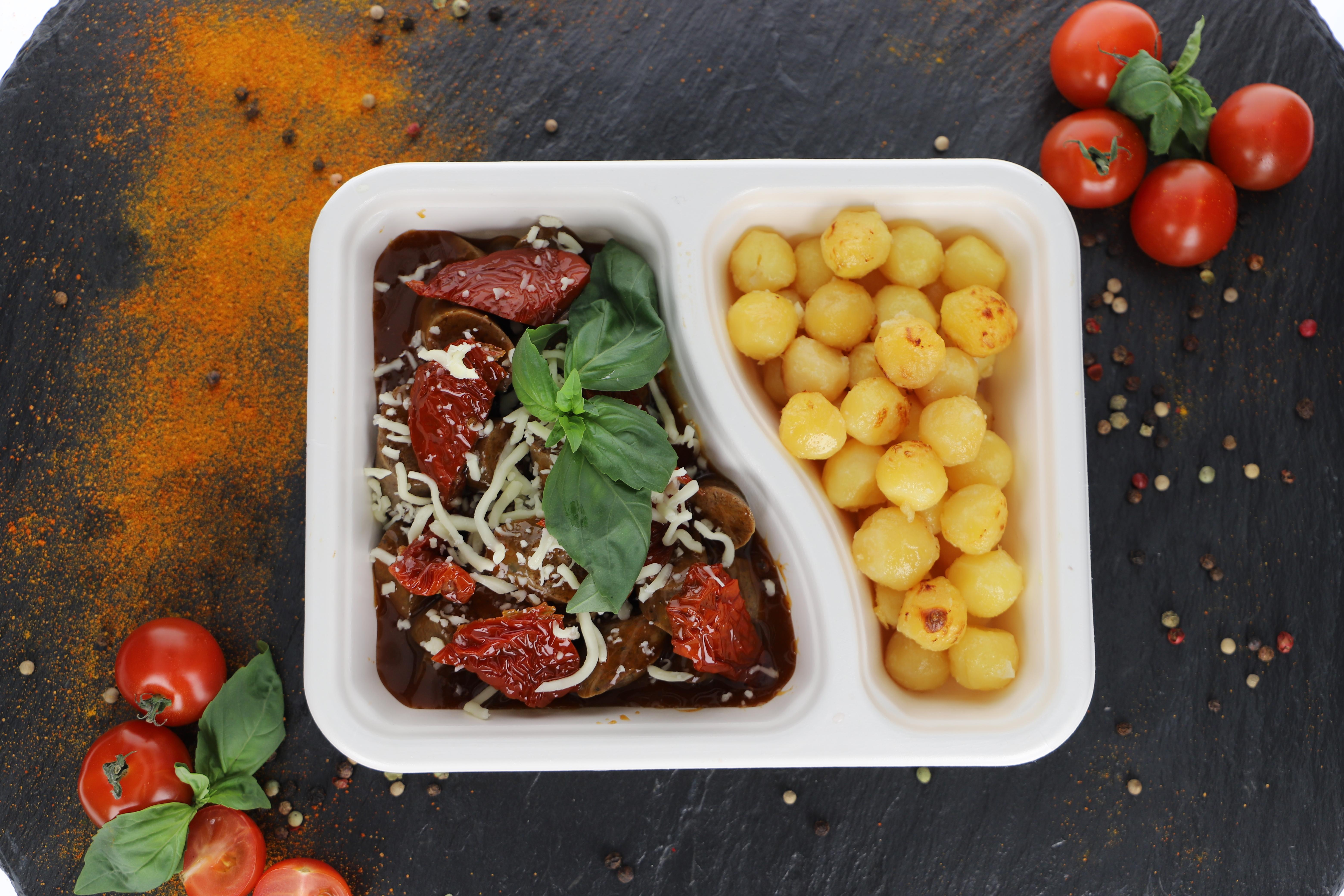 Currywurst Schwein - Italien Style