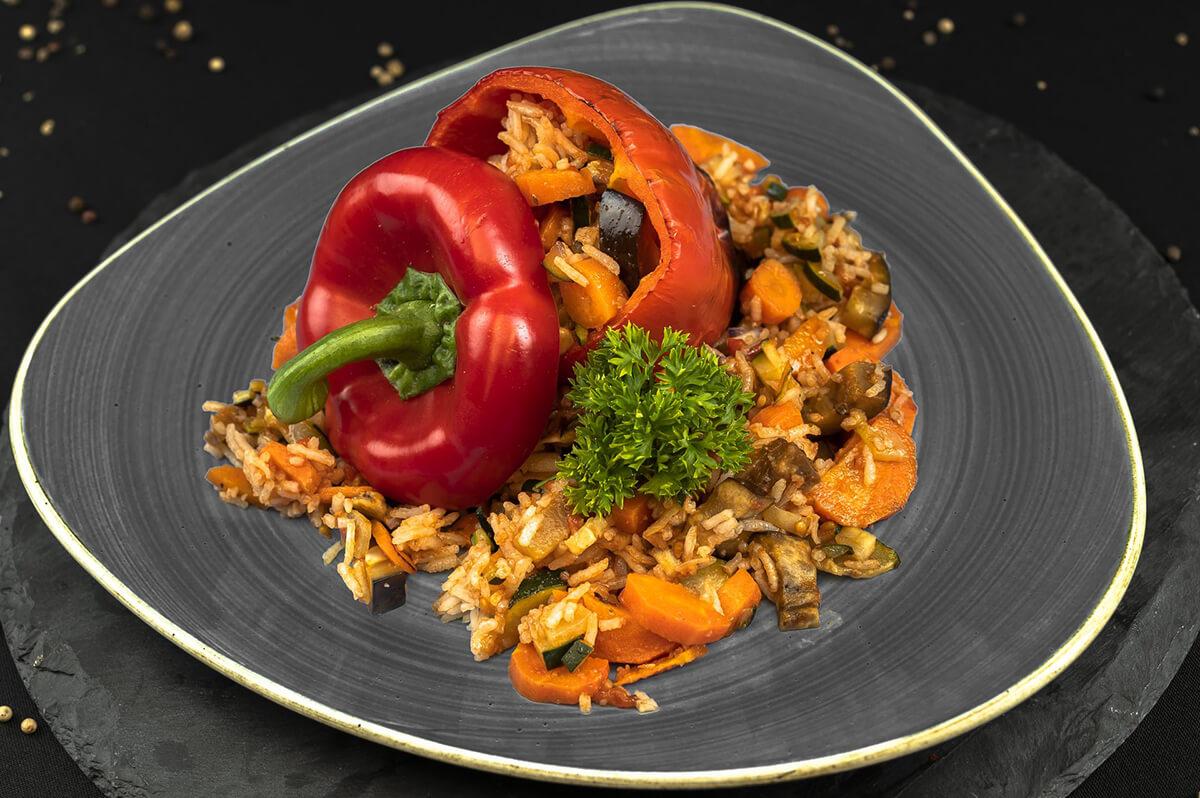 Paprika mit Reis