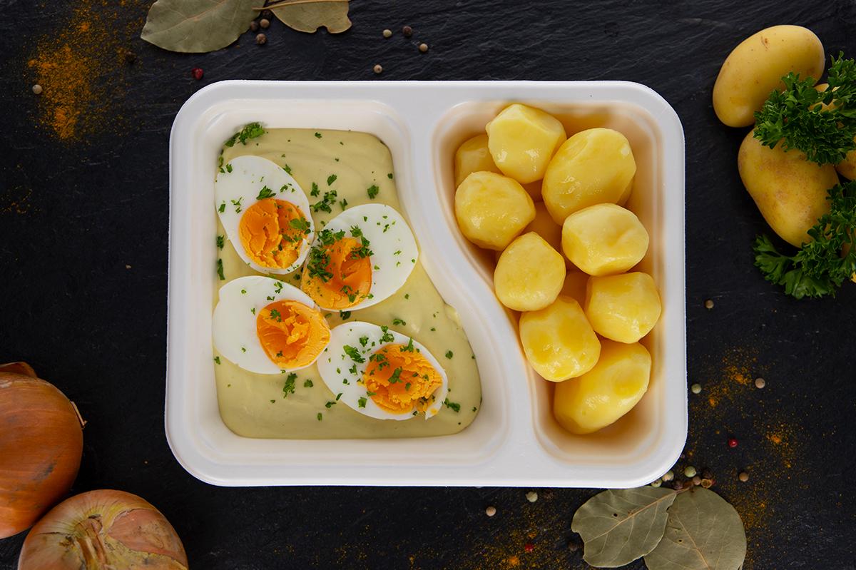 Senfsoße mit Kartoffeln